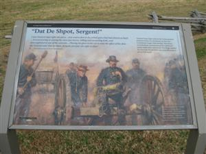 Dat De Shpot, Sergent Interpretive Sign