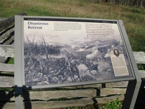 Disastrous Retreat Interpretive Sign