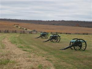 Federal Artillery Line at Pea Ridge Battlefield