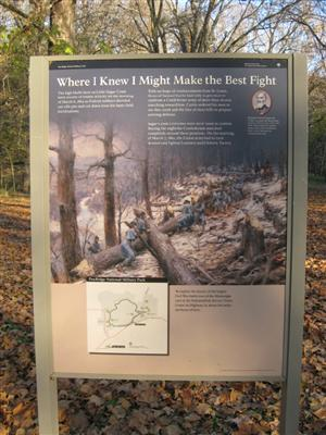 Pea Ridge Federal Entrenchments as Sugar Creek Interpretive Sign