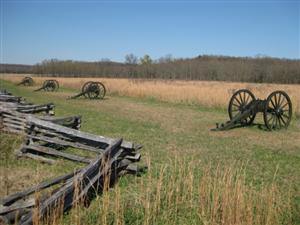 Gun Carriages Marking Location of Federal Batteries at Ruddick's Field
