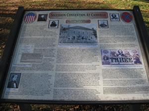 Secession Convention at Cassville Historical Marker