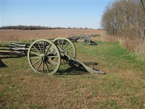 Gun Carriages Marking Location of Good's Texas Battery at Skirt of Timber