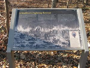A Stubborn Fighting Retreat Interpretive Sign