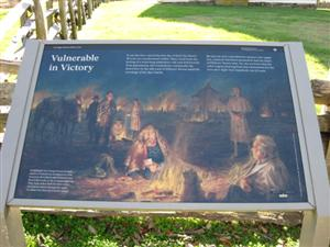 Vulnerable in Victory Interpretive Sign