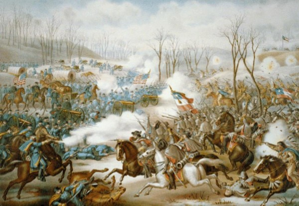 Battle of Pea Ridge painted by Kurz and Allison