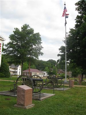 Civil War Artillery at the Iron County Courthouse in Ironton, Missouri