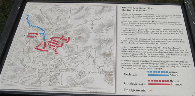 Interpretive Sign: The Doomed Assault