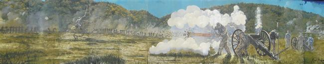 The Battle of Pilot Knob from mural located in Ironton, Missouri