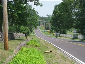 Looking east down the road to Fredericktown from the Federal Picket Post in Russellville