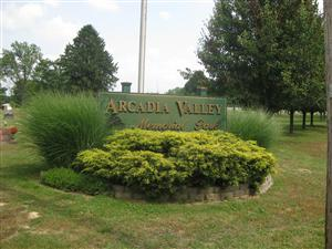 Arcadia Valley Memorial Park where skirmishing occurred in Russellville on September 26, 1864