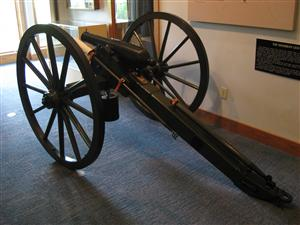Rear View of the Woodruff Gun inside the Visitor Center