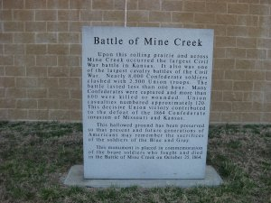 Price's Retreat Tour Stop 3 Mine Creek State Historic Site Marker