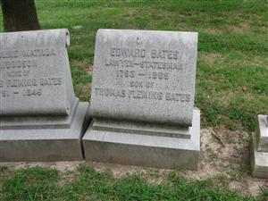 The Edward Bates Grave at Bellefontaine Cemetery