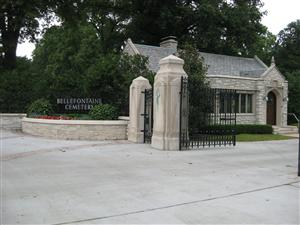 Entrance to Bellefontaine Cemetery in St. Louis, Missouri