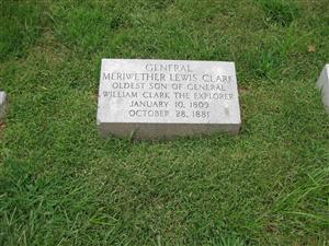 Meriweather Lewis clark Grave at Bellefontaine Cemetery