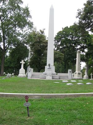 William Clark Obelisk Memorial at Bellefontaine Cemetery