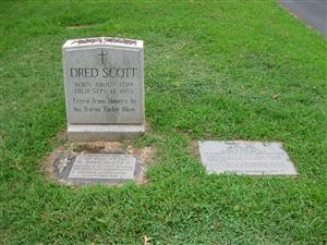 Dred and Harriet Scott Graves at Calvary Cemetery
