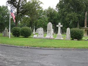 The William T. Sherman grave site at Calvary Cemetery