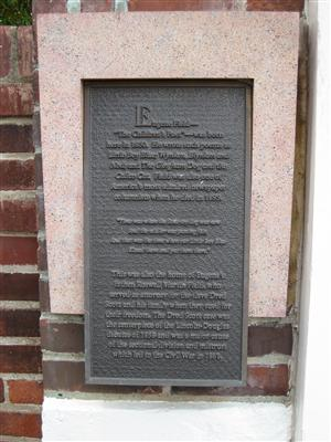 The large historical marker located at The Eugene Field House at 634 South Broadway in St. Louis, Missouri