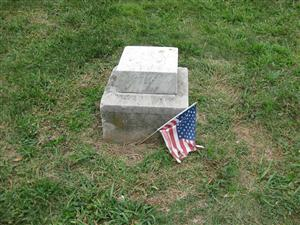 Thought to be the unmarked grave of Captain Constantin Blandowki, first Union officer killed in action during the American Civil War