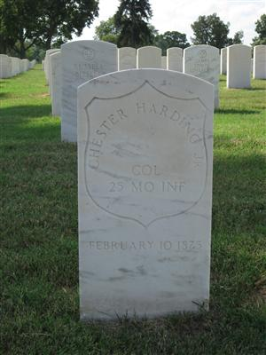 Colonel Chester Harding, Jr. grave at Jefferson Barracks National Cemetery