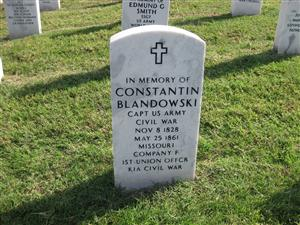 Constantin Blandowski Memorial at Jefferson Barracks National Cemetery