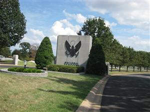 Entrance to the National Cemetery at Jefferson Barracks