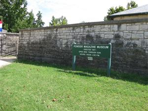 Sign for the Powder Magazine Museum at Jefferson Barracks