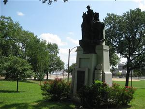 The Nathaniel Lyon Statue in Lyon Park in St. Louis, Missouri