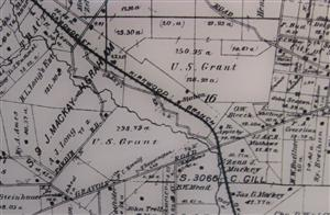 Map showing Grant's Farm property location circa 1866