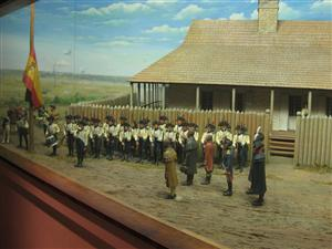 Photo of one of the dioramas on display at the Old Courthouse in St. Louis, Missouri