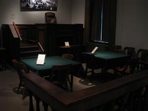 Photo of the Dred Scott trial's courtroom on display at the Old Courthouse in St. Louis, Missouri