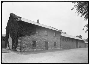 Building used for the manufacture of powder and ammunition located at the St. Louis Arsenal - photgraph taken in 1936