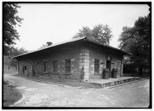 The Old Guard House building located at the St. Louis Arsenal - photgraph taken in 1936