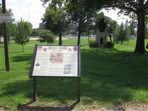 St. Louis Arsenal Interpretive Sign located in Lyon Park in St. Louis, Missouri