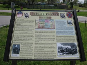 Battle of Dug Springs Historical Marker