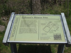 Gibson House Interpretive Sign