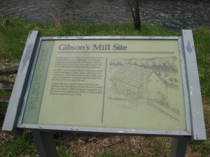 Gibson Mill Interpretive Sign