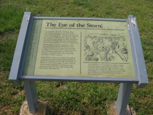 Price's HQ Eye of the Storm interpretive sign