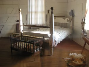 The Bed in the Ray House on which the dead body of Union General was placed