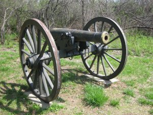 The smooth bore model 1841 6 pounder guns and 12 pounder howitzers