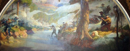 Battle of Wilson's Creek as Depicted in Mural in Missouri State Capitol Cropped